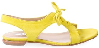 OPENING CEREMONY - Yellow suede lace-up sandals - Casual Shoes