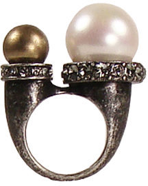 Lanvin Double Pearl Ring -  Luxurious Lanvin Jewelry