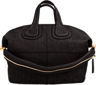Givenchy Medium Textured Nightingale - Black - Oversized Bags