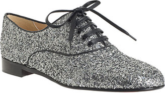 Christian Louboutin Fred Flat Glitter - Anthracite - Oxfords