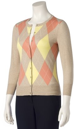 Argyle Cardigan - Argyle Sweaters