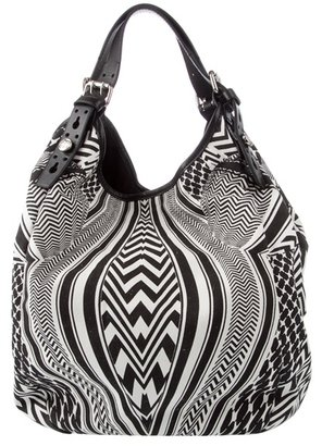 GIVENCHY - Optical print canvas tote bag - Printed Leather Handbags