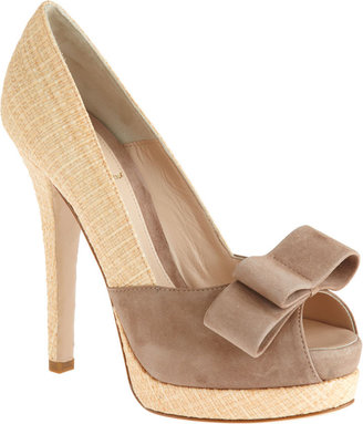 Fendi Straw Platform Pump - Tan - Peep Toe Pumps