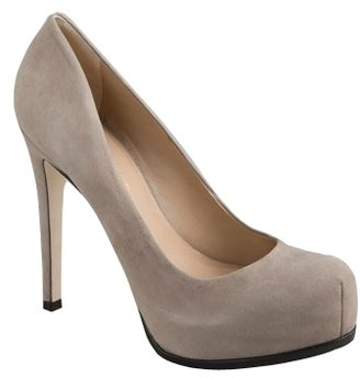 Pour La Victoire - Women&#39;s Grey Suede Irina Platform Pump - Hidden Platform Pumps