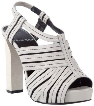 PIERRE HARDY - Chunky leather sandal - Heels