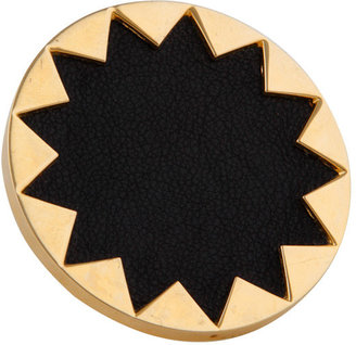 House of Harlow 1960 Gold Starburst Cocktail Ring with Black Leather - Dress Like a Celebrity