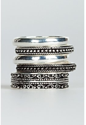 Etched Stackable Ring - Decorative Rings