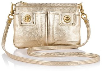 MARC BY MARC JACOBS Totally Turnlock Percy Metallic Leather Crossbody Bag - Marc By Marc Jacobs
