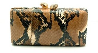 KOTUR &quot;JB Renna&quot; Congo Sand Snake Clutch - Contemporary Box Clutch