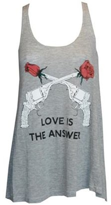 Wildfox Love is the Answer Tank in Heather Gray-PREORDER - Playful Printed Tees