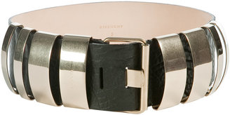 Givenchy Black Golden Metal Bars Belt - Beautifully Bold Belts