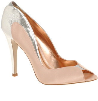Miss KG Chloe Satin Peep Toe Heeled Court - Peep Toe Pumps