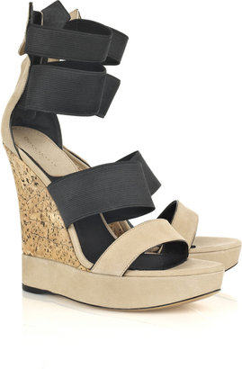 Donna Karan Cork and suede wedges - Heels