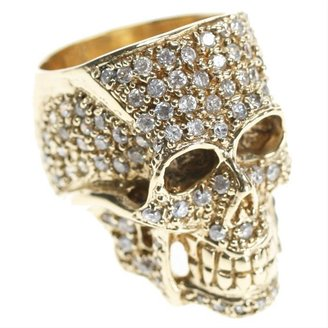 Crystal Skull Ring by Jessica Kagan Cushman - Skull Ring