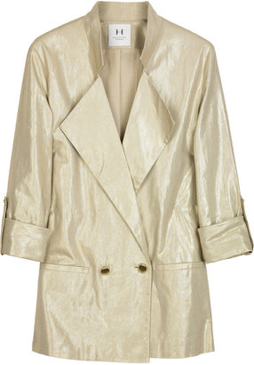 Halston Heritage Metallic linen-blend blazer - Gifts for the Fashion-Forward Blake Lively Gal