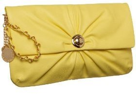 Melie Bianco Pleated Clutch - Handbags