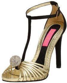 Betsey Johnson Women&#39;s Ranae T-Strap Sandal - Heels