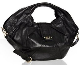 Hype black leather &#39;Emilia&#39; oversized satchel - Designer Purse Parties