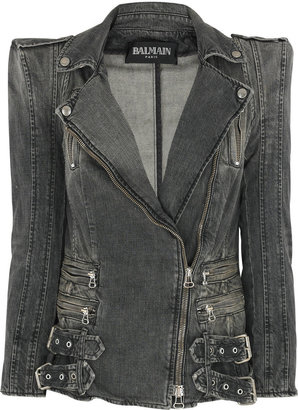 Balmain Faded denim jacket - Outerwear