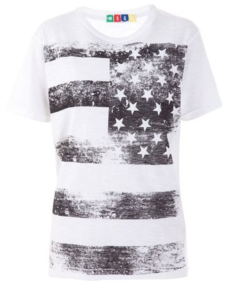 MSGM - Cotton US flag print T-shirt - Clothes