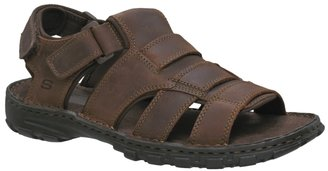 Skechers Men&#39;s Proper Leather Fisherman Sandal - Leather Sandals for Men