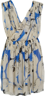 3.1 Phillip Lim Pleated printed silk-chiffon dress - Dress Like Emma Roberts