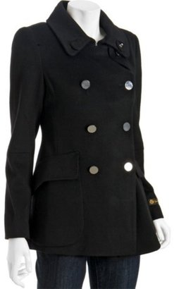 Elie Tahari black wool &#39;Mischa&#39; double breasted peacoat - The Jackie O Jacket