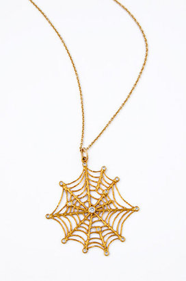 Jacquie Aiche Spider Web Necklace - Creepy Crawly Spider Jewels