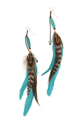 Navajo Feather Earring -  Bohemian Jewelry