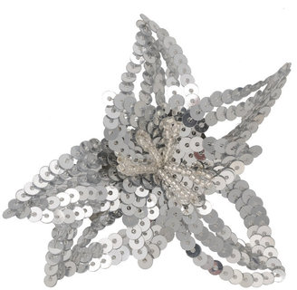 Sequin Star Flower Clip - Forever 21