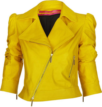 Emanuel Ungaro Asymmetric leather motocross jacket - Outerwear