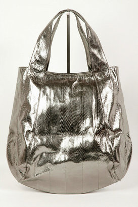 Beirn &quot;Jenna&quot; Watersnake Hobo - Gunmetal - Oversized Bags