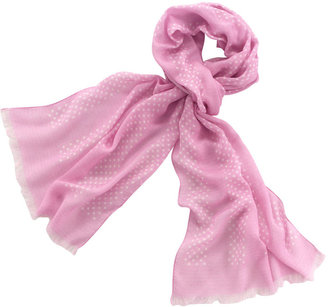 Pink and White Spot Lady&#39;s Scarf - Accessories