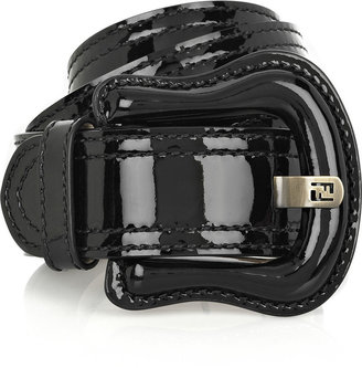 Fendi Patent leather B belt - Accessories