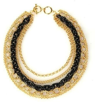 Kenneth Jay Lane Black and Gold Chain Necklace - Choose a Choker Necklace