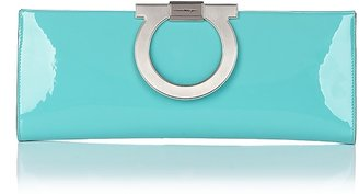 Salvatore Ferragamo Piuma Patent Leather Cocktail Clutch - Salvatore Ferragamo