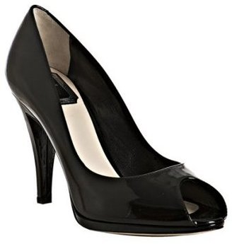 Christian Dior black patent &#39;Miss Dior&#39; peep toe pumps - Heels