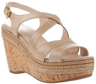 PRADA - Cork wedge sandal - Shoes