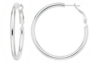 Sterling Silver Hoop Earrings - Jewelry