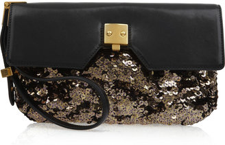 Marc Jacobs Alexis sequin and leather clutch - Handbags