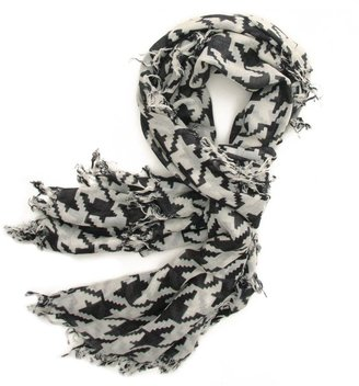 CHAN LUU Large Houndstooth Print Scarf - Accessories