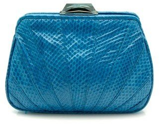 KOTUR &quot;Porteous&quot; Blue Snake Clutch With Chain - Kotur