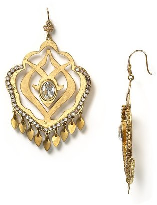 Juicy Couture Crystal and Goldtone Chandelier Earrings - Gold Chandelier Earrings