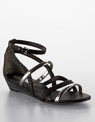 Bcbgmaxazria Isoldy Leather Wedge Gladiator Sandals - Sandals
