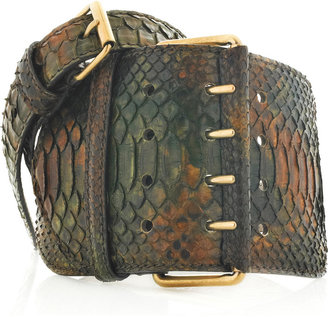 Alexander McQueen Python waist belt - Accessories