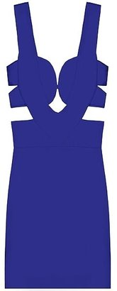 Sena Cut Out Dress In Blue - Dress Like a Celebrity