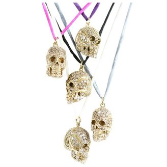 Crystal Skull Pendant Necklace by Jessica Kagan Cushman - Pendant Necklaces