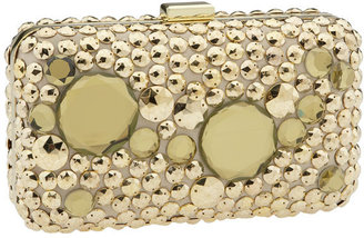 Hype &#39;Cary&#39; Jeweled Clutch - Gold Clutch Bags