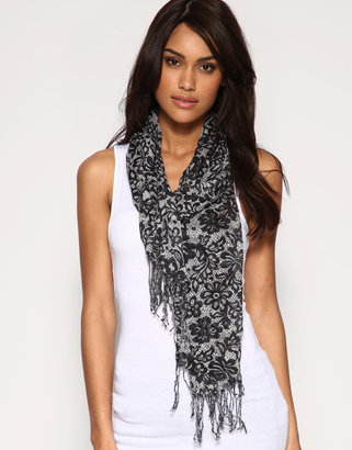 Oasis Lace Print Scarf - Oasis
