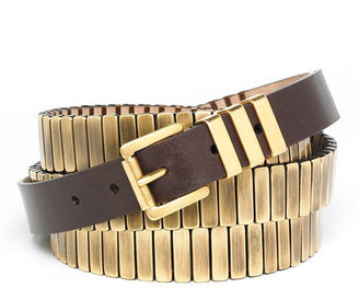 Michael Kors Bar Wrap Belt - Metallic Belt